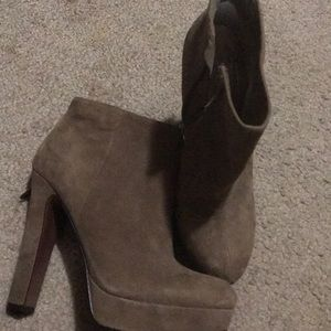 Brown Suede Booties by BCBG GENERATION